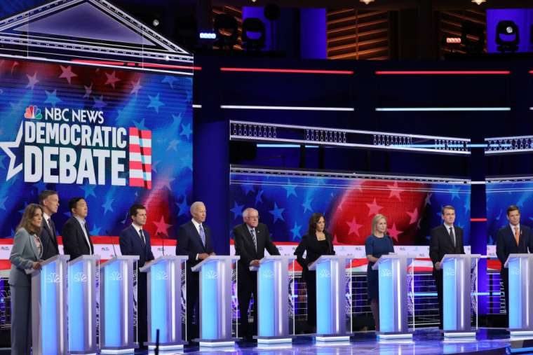10_Democratic_presidential_candidates_take_part_in_the_second_night_of_the_first_Democratic_presidential_debate_June_27_2019_in_Miami_Florida_Credit_Drew_Angerer_Getty_I